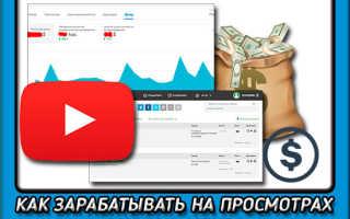 Как получать деньги за просмотры видео