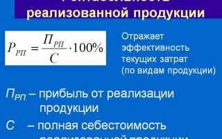 Коэффициент рентабельности продукции формула по балансу