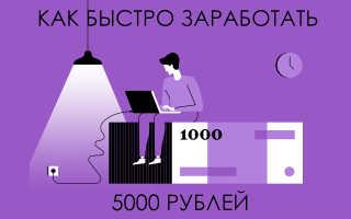 Где заработать 5 тысяч рублей