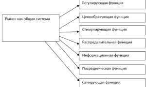 Санирующая функция рынка примеры